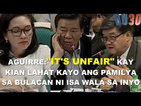 Aguirre harap-harapang napamura kay Hontiveros at Drillon - KIAN Senate Hearing