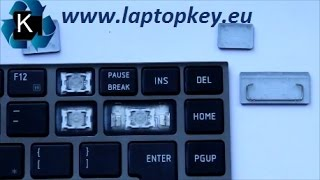 How to install key in keyboard Toshiba Portege R700 R705 R730 R731 R830 R835 R930 R935 Z830 Z835 ...