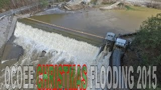 HIGH WATER AT OCOEE RIVER DAM #2 - CHRISTMAS DAY FLOODING 2015