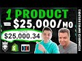 $25,000/Mo ONE Product Dropshipping Store SECRETS Revealed - Student Success Story 2019