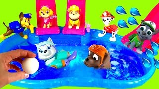 paw patrol dives for toys surprises in magical bath bomb pool