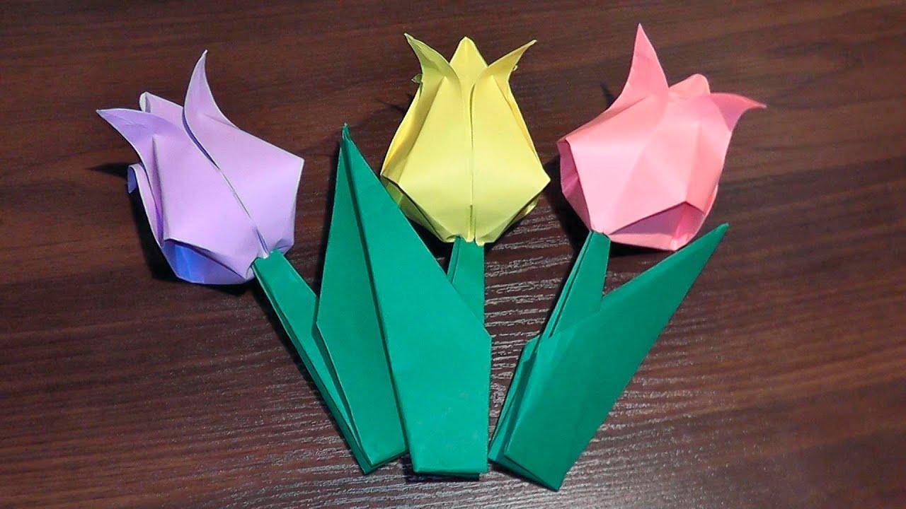 Оригами для детей 4-5 лет цветы