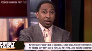 Kevin Durant Calls Stephen A Smith on First Take! Full Version