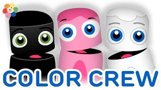 Download Color Collection 3: Black, Pink, White | Learning Colors Lesson for Kids | Color Crew | BabyFirst TV Mp3 and Videos