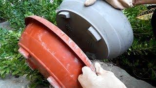 How to make a bonsai pot very easily || cement pot || DIY flower pot