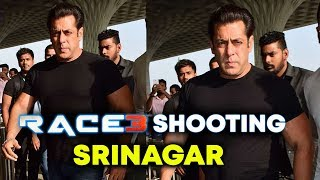 RACE 3: Salman Khan Spotted At Airport, Leaves To SRINAGAR For Final Schedule