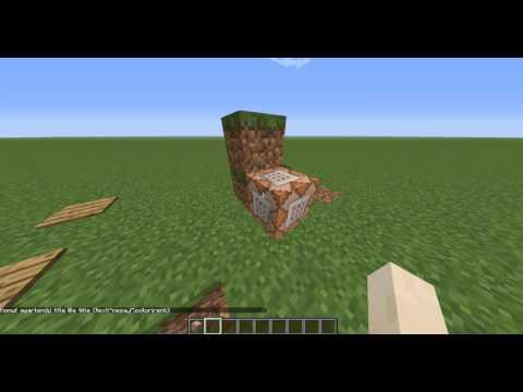 Minecraft Ekrana Yazı Yazma
