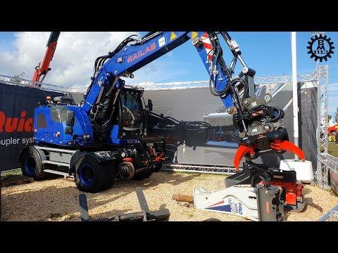 OilQuick Demo - Liebherr A 914 Compact Rail @ Load Up North 2019 (4K-50)