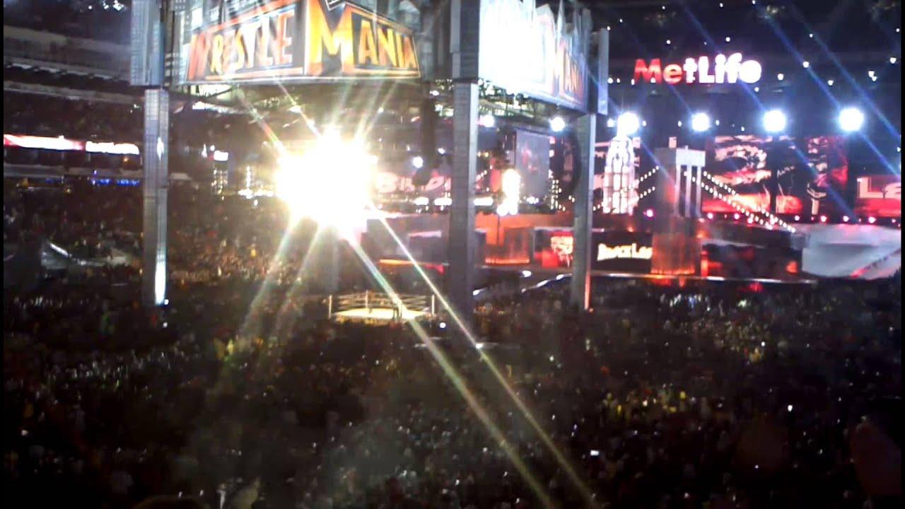 HBK and Brock Lesnar entrance WM 29 - YouTube