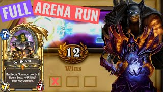 12 Win Dr. Boom Hunter-Warlock FULL RUN - Dual Class Wild Hearthstone Arena