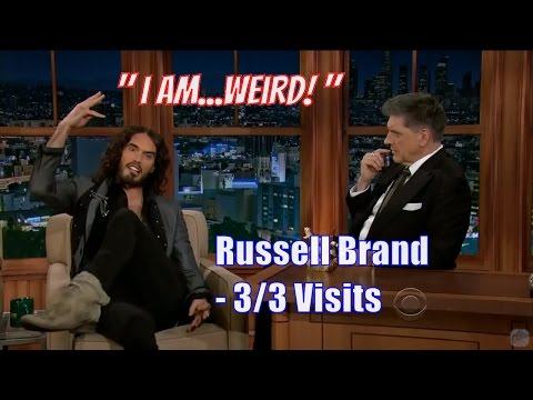 Russell Brand  Two Crazy, CRAZY Comedians  33 Visits In Chronological Order