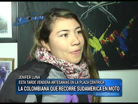 La Colombiana que recorre Sudamérica en moto