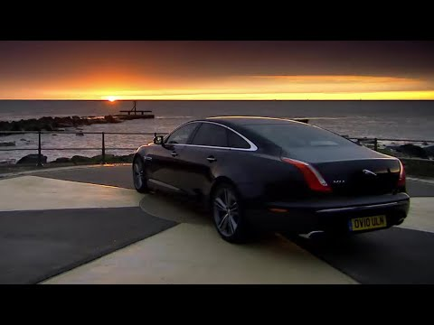 Race with the Sunrise | The New Jaguar XJ | Top Gear | BBC
