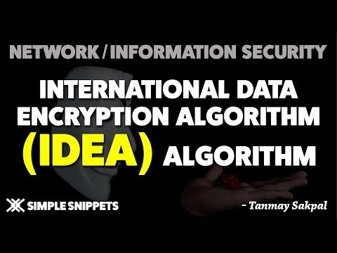 IDEA (International Data Encryption Algorithm) | Complete Encryption Process In Detail With Diagrams