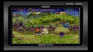 Game Boy Advance - Gunstar Super Heroes (Gameplay)