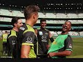 Will Smith hangs out with Kevin Pietersen after dropping into the MCG to watch Big Bash clash