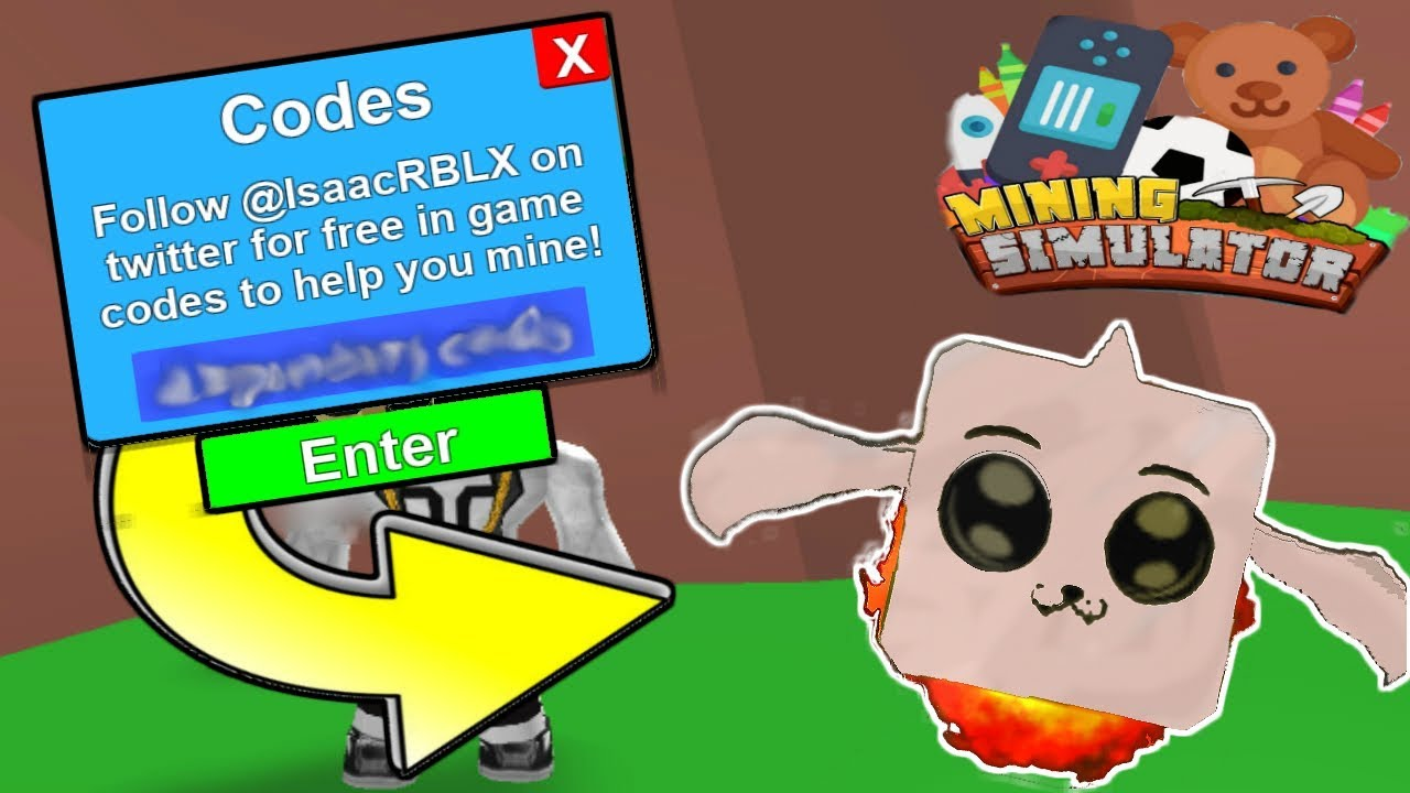 all 5 new codes in mining simulator mythical items update roblox