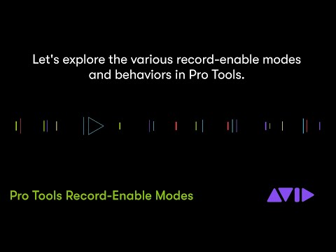 New in Pro Tools 2020 — Record-Enable Modes
