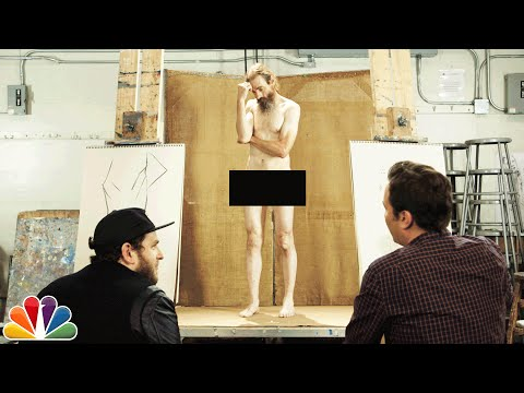 Jimmy Fallon and Jonah Hill Draw a Nude Model