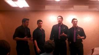 The #HashTag Quartet singing Wait TIll The Sun Shines Nellie.