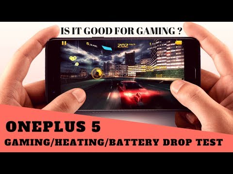 oneplus 5 gaming  | heating test | battery drop test while gaming