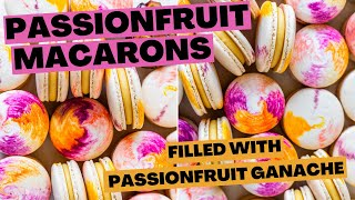 Passionfruit Macarons with Passionfruit Ganache Filling