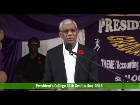 President Granger's remarks - President's College Graduation - November 6,2015