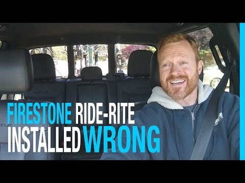 MY FIRESTONE RIDE-RITE WAS INSTALLED WRONG! FORD F-150 TOWING TRAVEL TRAILER