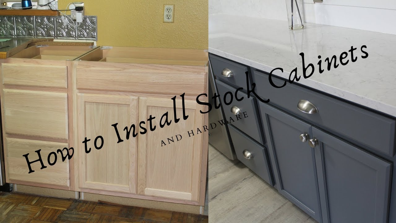 How To Install Lowes Stock Kitchen Cabinets Youtube