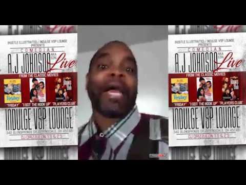 Comedian A.J. Johnson Live  March 3   Indulge VSP Lounge