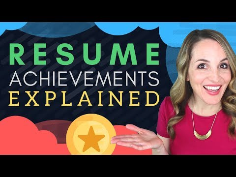 Resume Achievements  –  How To Write Achievements In Resume