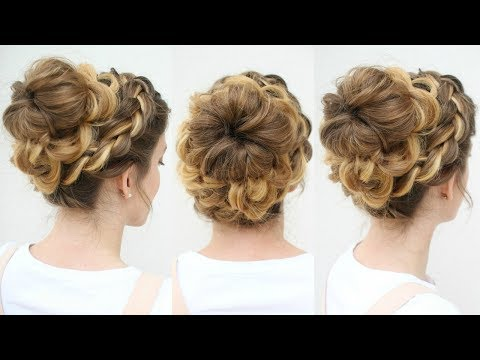 Beautiful Braided Bun Updo | Bun Hairstyles | Braidsandstyles12