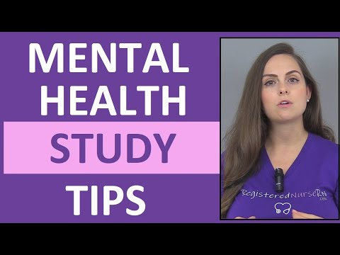 How To Study For Mental Health Nursing In Nursing School Youtube