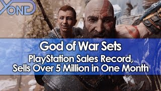 god of war sets playstation sales record sells over 5 million in one month