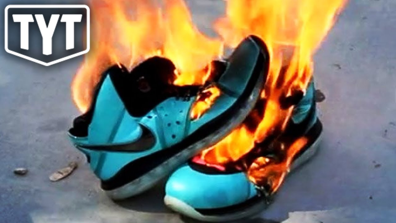 Conservatives Burning Nikes In Protest