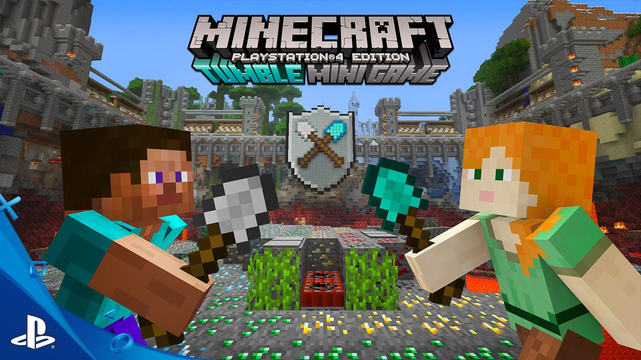 MINECRAFT Tumble Mini Game Trailer PS PS PS Vita YouTube - Minecraft ps3 spiele
