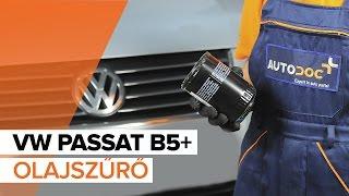 VW PASSAT Olajszűrő beszerelése: videó útmutató