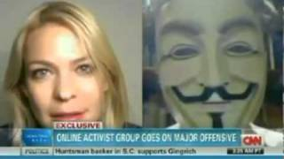 Anonymous Live On CNN !