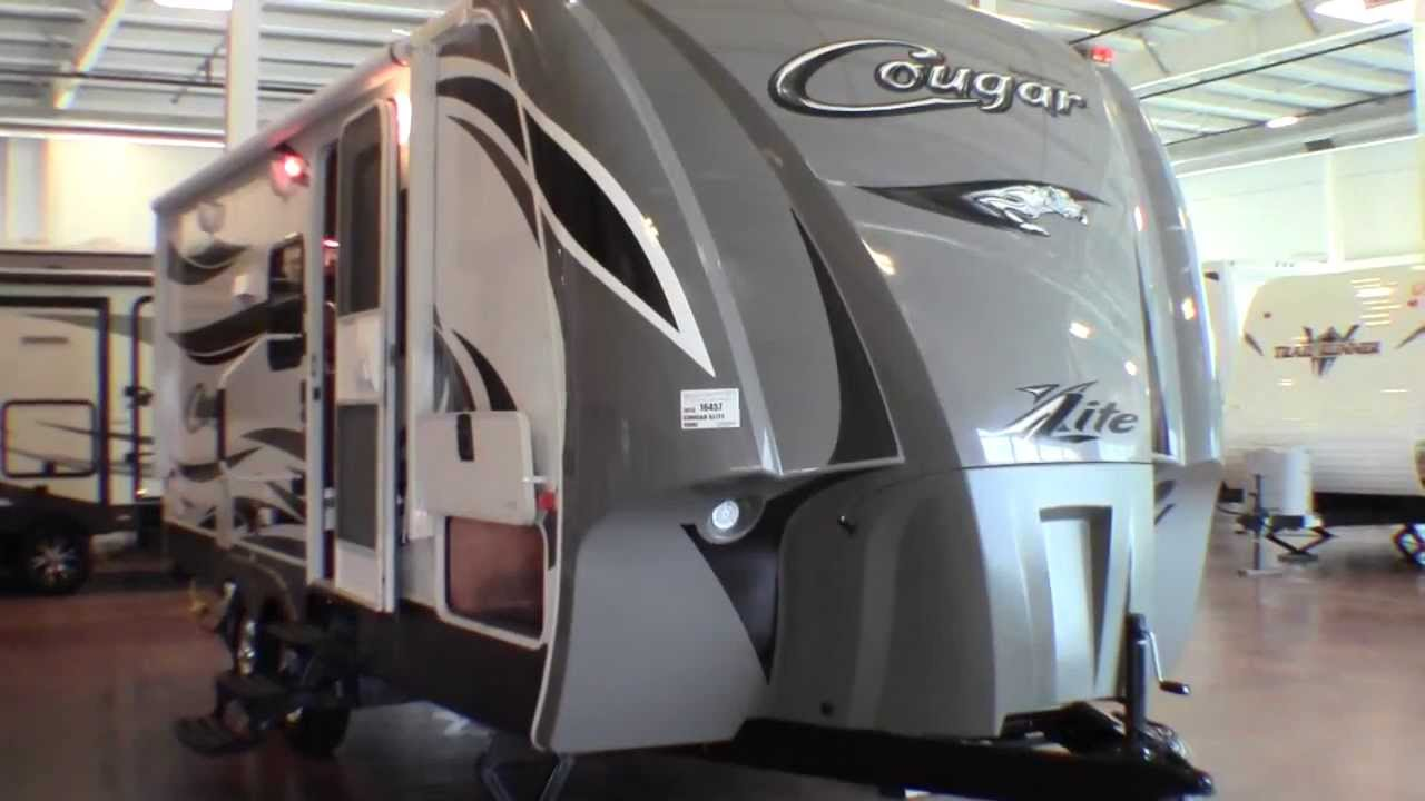 2013 Cougar X Lite 19 Rbe Travel Trailer With Slide Youtube