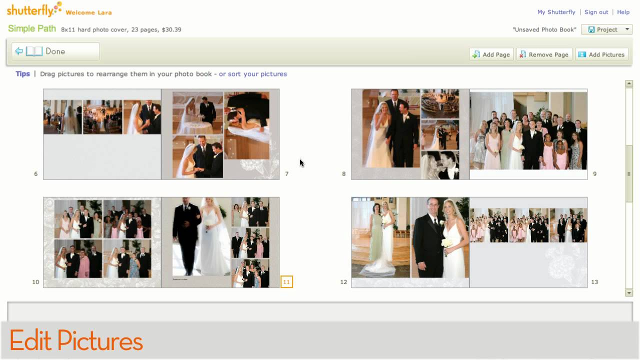 how to make a shutterfly photo book with simple path youtube