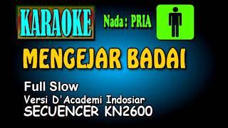 MENGEJAR BADAI Versi Slow [Karaoke Nada Pria]