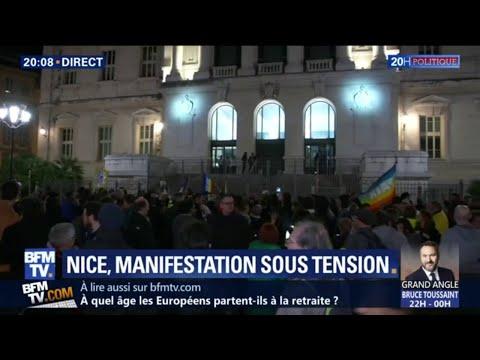 Une Manifestation En Cours à Nice En Soutien à La Septuagénaire Blessée Samedi