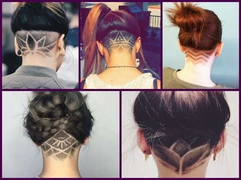 Trendy Haircuts 50 Women's  Haircuts with back undercut design