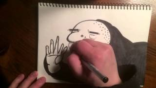 365 Days of Drawing: Day 57: Stickfingers Magoo