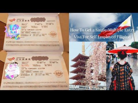How To Get A Single/Multiple Entry Japan Visa For Self Employed Filipino 2019 | Tagalog, Napakadali!