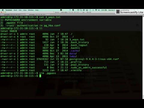 Logging into PostgreSQL without password