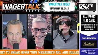 Free Sports Picks | College Football Predictions | NFL Week 3 Picks | WagerTalk Today | September 23
