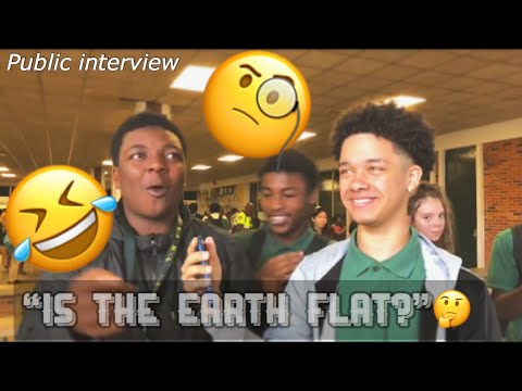 IS THE EARTH FLAT?🤔 || HIGH SCHOOL EDITION ( Public Interview ) thumbnail