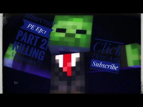 Minecraft PE Ep:1 Part 2|KILLING SPREE!!|