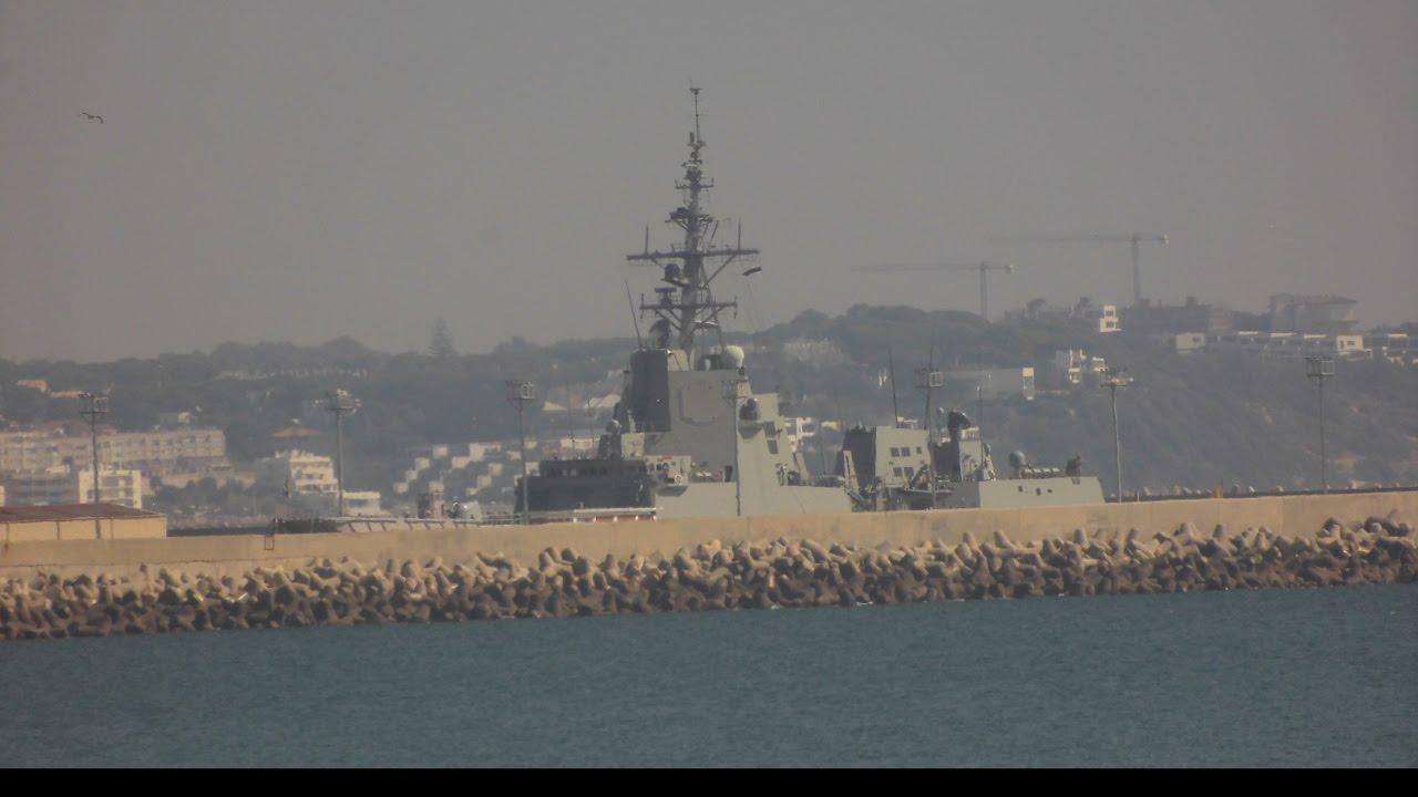 warship cannons firing in spain naval base rota youtube